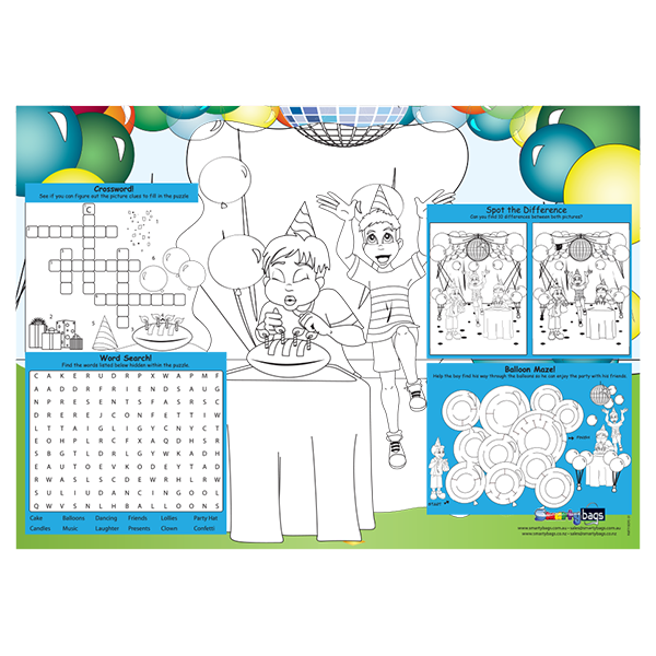 Boys Party Placemat