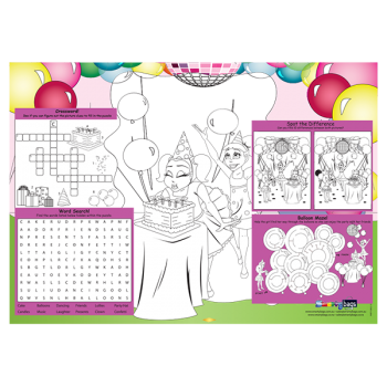 Girls Party Placemat x100