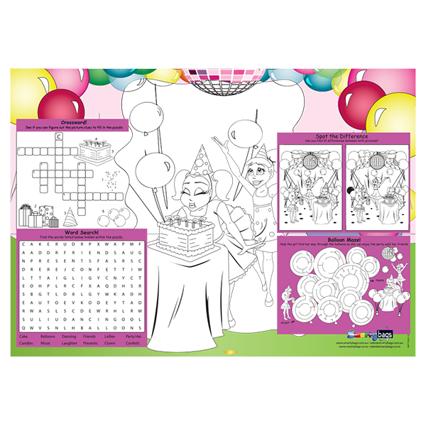 Girls Party Placemat